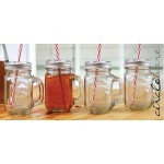 Circleware Country mug with straw and lid 440 ml
