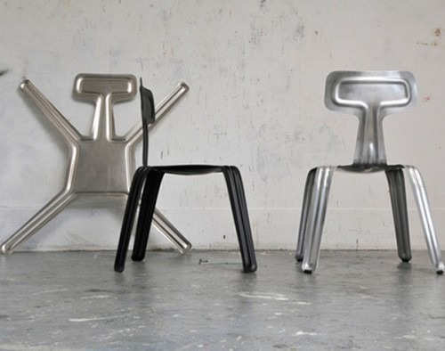 Industrial pressed chair