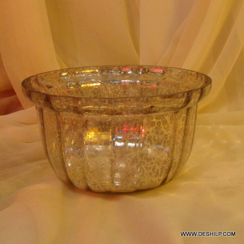 GLASS FOOTED BOWL