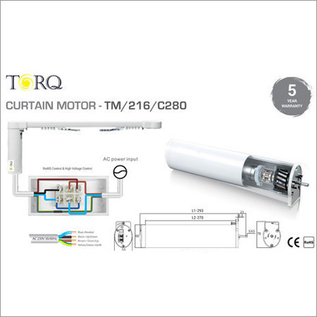 5 Wire Curtain Motor