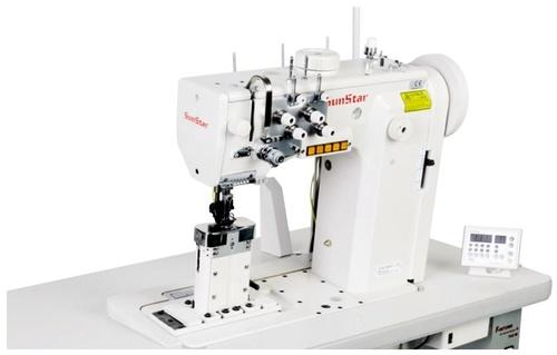 Post Bed, 1-Needle Unison Feed Lock Stitch M/C