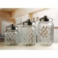 Circleware Relic Canister With Silver Lid 3Pcs