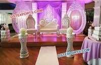 Best oval panel wedding stage