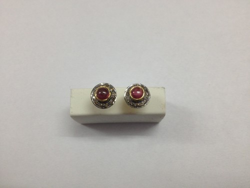 Diamond Ruby Earring