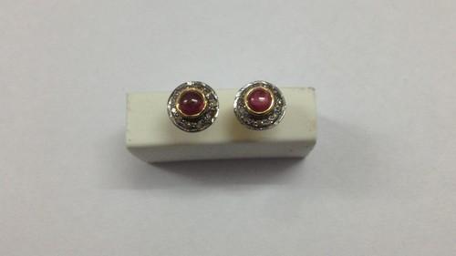 Ruby Diamond Earring