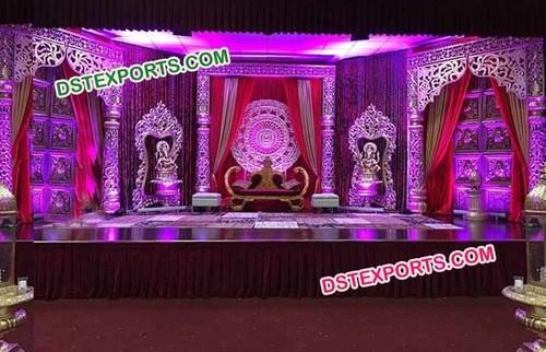 Royal wedding fiber pillar stage
