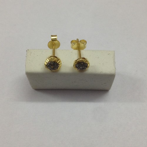 Gold Plated Diamond Earring