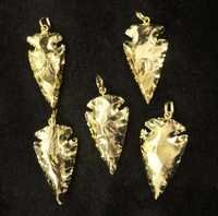 Arrowhead Gold Plated Pendant