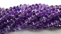 Amethyst Rondell Faceted Beads