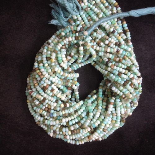 Peru Opal Rondell Faceted Beads