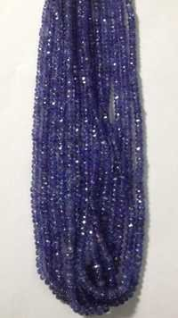 Tanzanite Rondell Faceted Beads