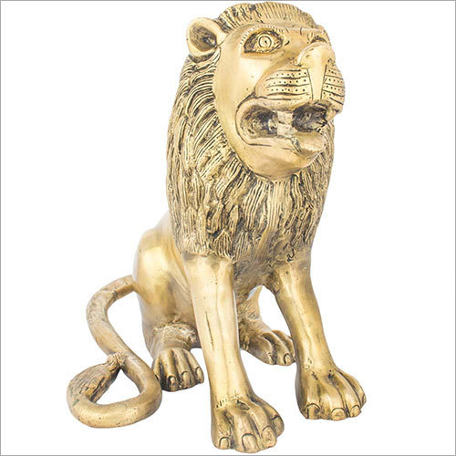 30cm Brass Lion Idol