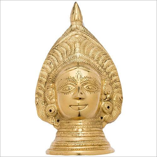 16.5cm Brass Devi Mukhota