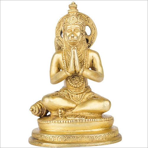 14.5cm Brass Hanuman Murti