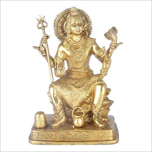 Brass Four Hand Shiva Idol