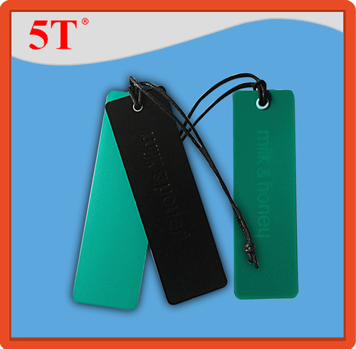Paper and Plastic Hang Tags in One Set