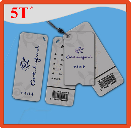 AKDMKS Black Hang Tags with Barcode and Partial Epoxy Sticker
