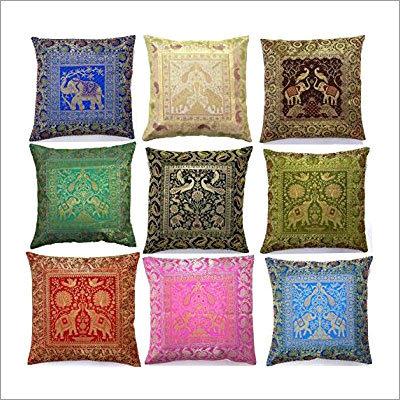 Banarsi Silk Cushion Cover