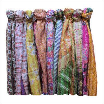 Vintage Sari Kantha Scarves