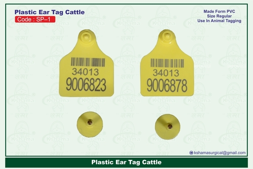 Plastic Ear Tag Cattle