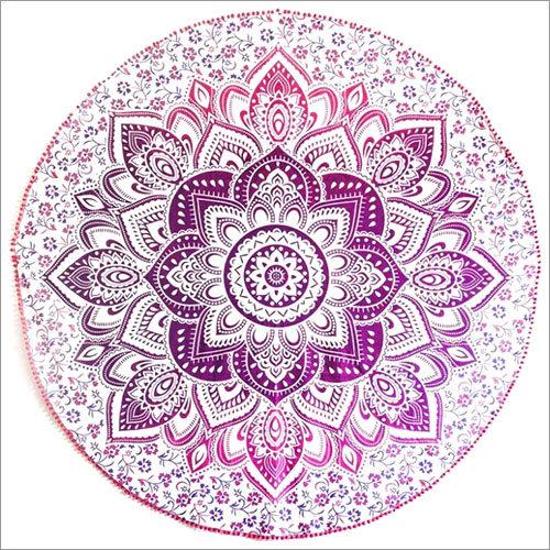 Mandala Round Tapestry