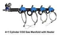 4+1 Cylinder Co2 Gas Manifold With Heater