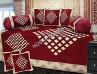 RED EMBROIDERED DIWAN COVER SET