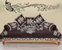 BROWN DIWAN COVER SET