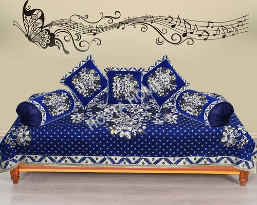 BLUE  DIWAN COVER SET