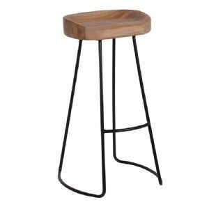 Industrial metal bar and counter stool