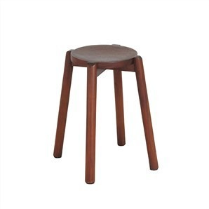 Bolid mahogany timber round stool
