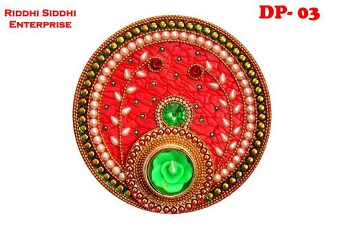 Acrylic Rangoli Plates