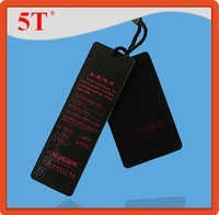 Debossed and Embossed Black Hang Tags