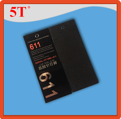 Low Rise Slim Branded Apparel hang tag