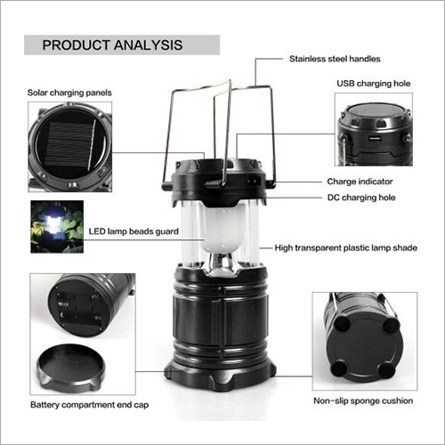 Solar Lamp with Cellphone Charger