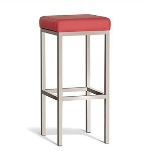 Lumi bar stool brushed steel frame