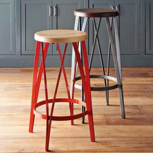 Rustic crown bar stool