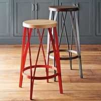 Rustic crown bar stool