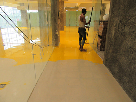 Application of Epoxy Top Coat for Gold Gym