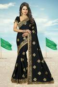 Wedding wear crepe sarees
