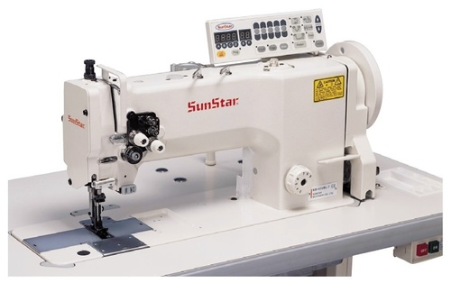 High Speed, 1/2-Needles, Unison Feed, Lock Stitch Sewing Machine with Horizontal Large Hook