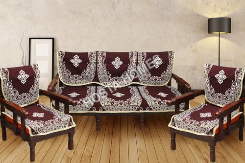 Brown Floral Sofa Set