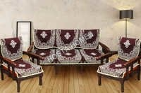 Brown Floral Sofa Set