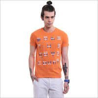 Men's Printed Round Neck T-Shirt