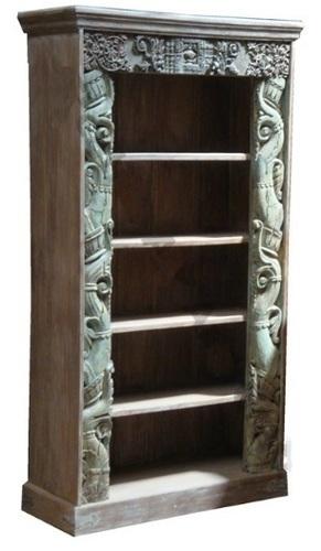 Antique Indian Carving Bookshelf