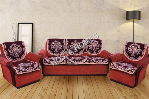 BROWN FLORAL SOFA COVERS