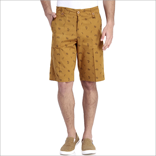 Men's Solid Bermuda Shorts
