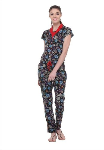 Women's Cotton Printed Jumpsuit