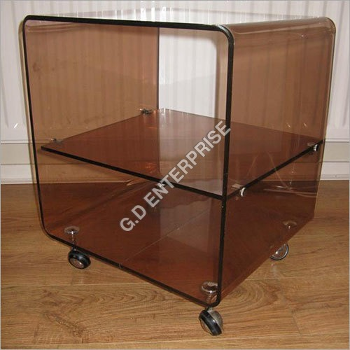 Acrylic Shelves Trolley