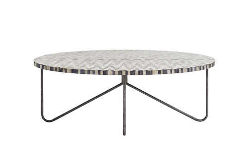 Rectangular shape Bone Inlay Coffee Table